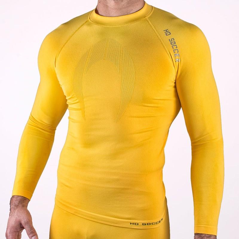 Camiseta térmica manga larga amarilla