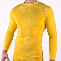 Long sleeve base layer yellow