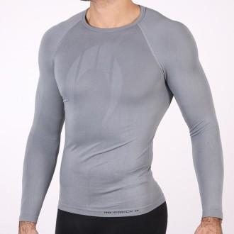 Camiseta térmica sin cuello gris