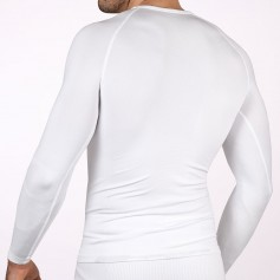 Camiseta térmica sin cuello blanca