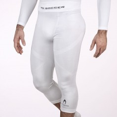 Thermal base layer 3/4 tights white