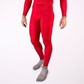 Thermal base layer long tights in red