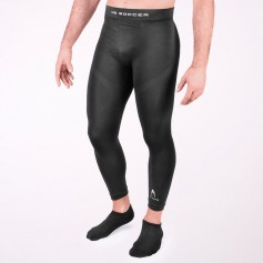 Thermal base layer long tights in black